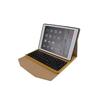 XIZHES 0.5 MA Abeja Ultra-Delgada Wen Bluetooth fisión Caja de Cuero del Teclado para iPad Aire 2, Brown: Amazon.es: Electrónica