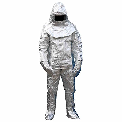 (Carejoy Welding Apron,Thermal Radiation 1000 Degree Heat Resistant Aluminized Suit Fireproof Clothes Safety Cloth )