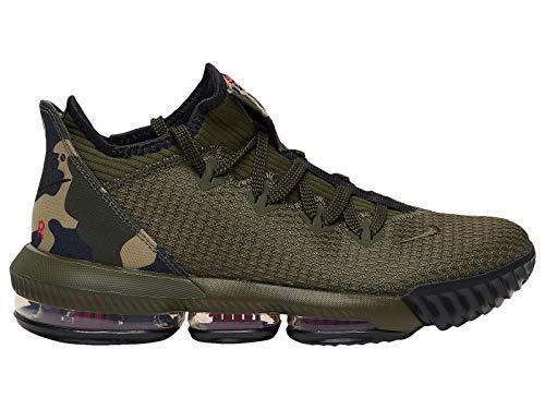 Nike Men's Lebron 16 Low Cargo Khaki/Black/Neutral Olive Synthetic Basketball Shoes 11.5 M US