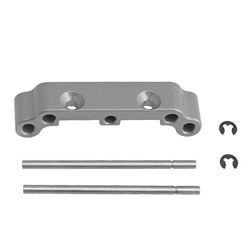 (BQLZR 1PCS Silver Aluminum Alloy Front Rear Suspension Arm Holder For HIMOTO E10xB E10xBL E10DB E10DBL E10SC E10SC RC1:10 Off Road Car)