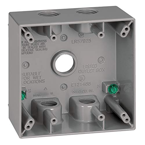 Sigma Electric 14353-5 3/4-Inch 5 Hole 2-Gang Box, ()