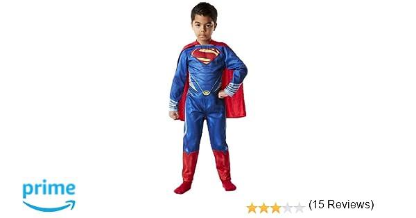 Rubies Superman - Disfraz Man of Steel, para niños, Talla S 886504 ...