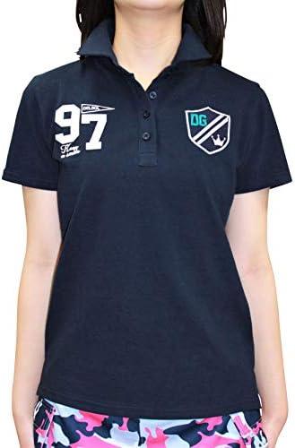 7560 NV L 97番ポロシャツ ネイビー L 大きいサイズ 鹿の子 ポロシャツ 半袖 コットン100 デルソル ゴルフウェア レディース