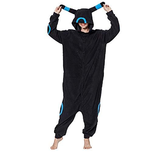 ZHANGZHIYUA Adult Animal Cosplay Costume Pajamas Cartoon Pajamas Blue Moon Elf,A,M -