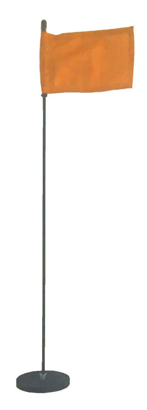 Magnetic Base Flag Holder - Hold Force 99 lbs. Flex Steel Spring Pole 24 inch (4 x 6) Orange Flag
