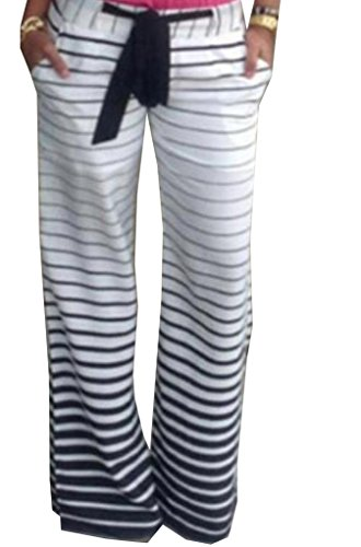 Coolred Womens Striped Palazzo Lounge