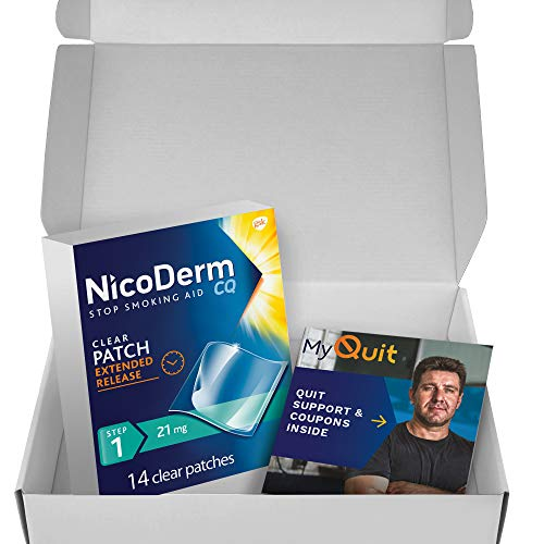 NicoDerm CQ Nicotine Patch with Quit Support System, Clear 14 Count (Pack of 1)