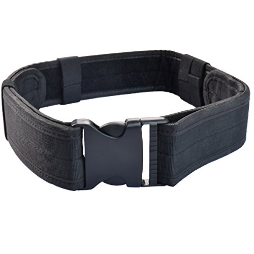 Airsoft Military Tactical Belt Unisex Durable Canvas Material Hunting Outdoor Utility Adjustable Waistband (Big Belt)