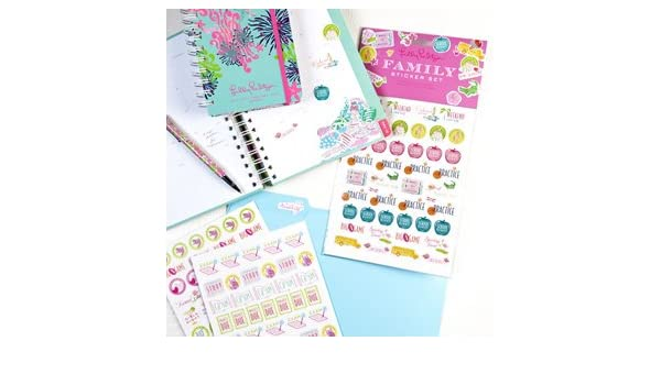 Amazon.com: Lilly Pulitzer Family Agenda Stickers: Health ...
