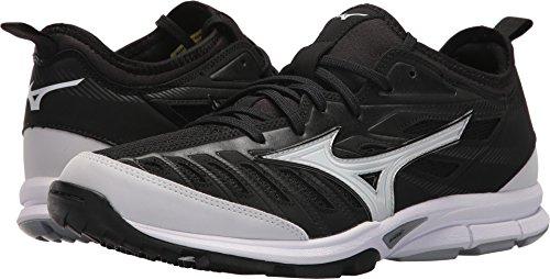 Mizuno Turf Shoes - Mizuno Men's Players Trainer 2 Turf Baseball-Shoes,Black/White,11.5 D US
