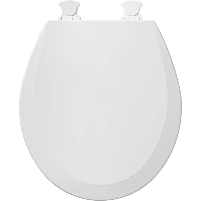 Marvelous Church 540Ec 000 Toilet Seat With Easy Clean Change Hinge Round Durable Enameled Wood White Ocoug Best Dining Table And Chair Ideas Images Ocougorg