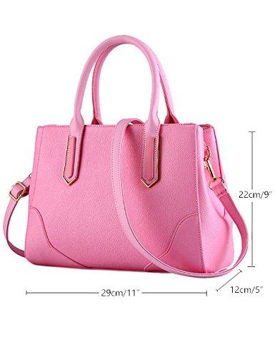 A Pu Nuove Rosa Bag Blu Leather Signore Lucida Buio Tote Menschwear Borsa Tracolla IXZx87