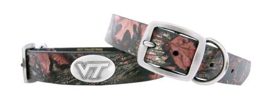 Zep-Pro Camouflage Leather Concho Pet Collar, Virginia Tech Hokies, X-Large