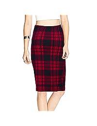 AIYoo Women Elastic Pencil Skirt,Slim Bodycon Career Office Midi Pencil Skirt
