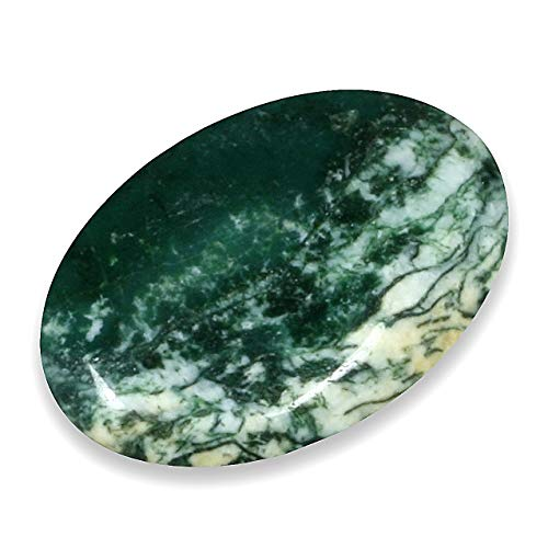 CrystalAge Moss Agate Thumb Stone ()