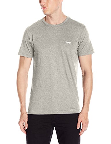 Hugo Boss BOSS Men's Modern Fit Basic Single Jersey T-Shirt, Light Gray, Medium