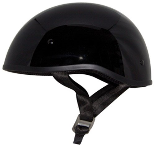 - Zox Retro Old School Open Face Helmet (Glossy Black, XX-Large)