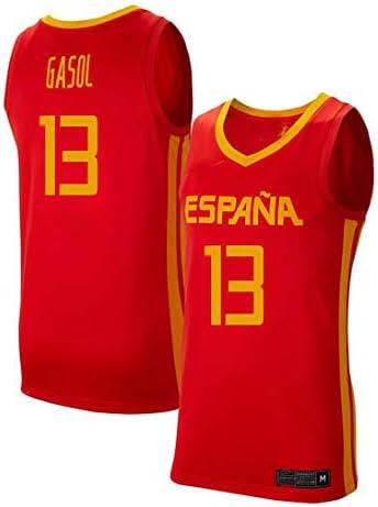 K&Q Camiseta Niño Marc Gasol Selección Española de Baloncesto Rojo 2019 (Rojo, L): Amazon.es: Deportes y aire libre