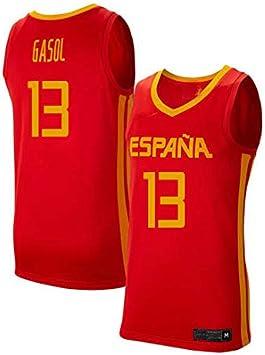 K&Q Camiseta Niño Marc Gasol Selección Española de Baloncesto Rojo 2019 (Rojo, S): Amazon.es: Deportes y aire libre