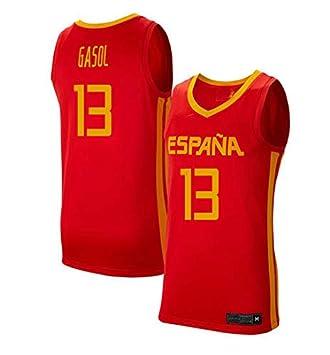 K&Q Camiseta Marc Gasol Selección Española de Baloncesto Rojo 2019 Hombre