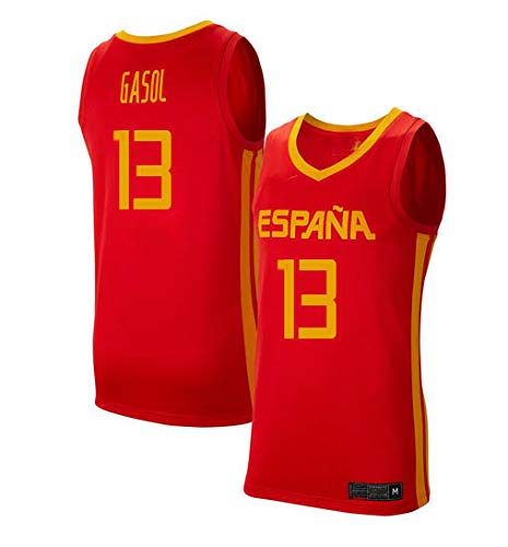 K&Q Camiseta Marc Gasol Selección Española de Baloncesto Rojo 2019 Hombre (Rojo, L): Amazon.es: Deportes y aire libre