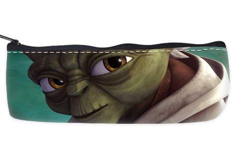 Yoda Star Wars Pencil Case School Pencil Case Cosmetic Makeup Bag Storage Student Stationery Zipper Wallet