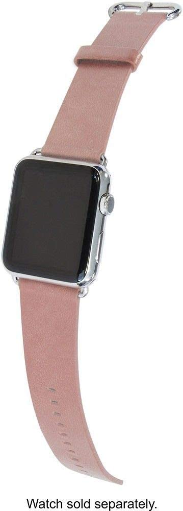 Trident Leather Watch Strap for Apple Watch 38mm - Light Pink -Model: YBWB3PL
