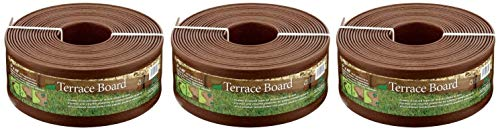 Master Mark Plastics 95340 Terrace Board Landscape Edging Coil, 5-inch x 40-Foot, Brown (Pack of 3)