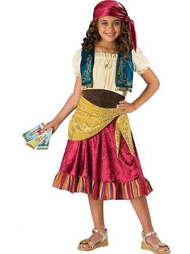 [In Character Kids Cute Girls Gypsy Pirate Fortune Teller Costume S] (Gypsy Costumes Girl)