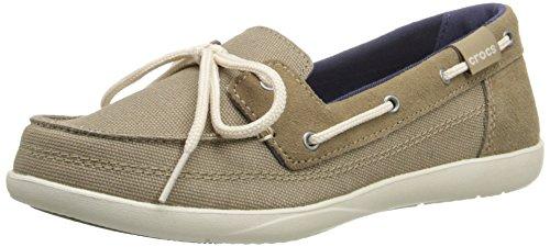 Zapatos zapato Walu Barco Khaki Barco Crocs W Stucco HqrfxH4