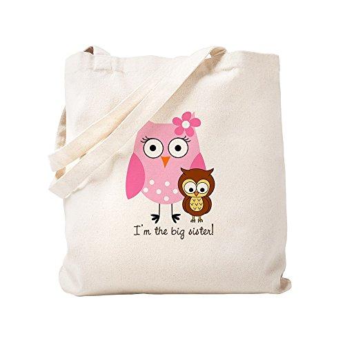 CafePress - Big Sister Owl - Natural Canvas Tote Bag, Cloth Shopping Bag by CafePress