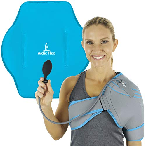 - Arctic Flex Cold Shoulder Brace - Ice Pack for Rotator Cuff Support, Tendinitis, Dislocated Joint, Labrum Tear, Frozen Shoulder Pain, Sprain - Right or Left Compression Wrap Strap Band - Men and Women