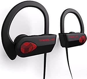 treblab xr500 bluetooth headphones best wireless earbuds for sports running or gym. Black Bedroom Furniture Sets. Home Design Ideas