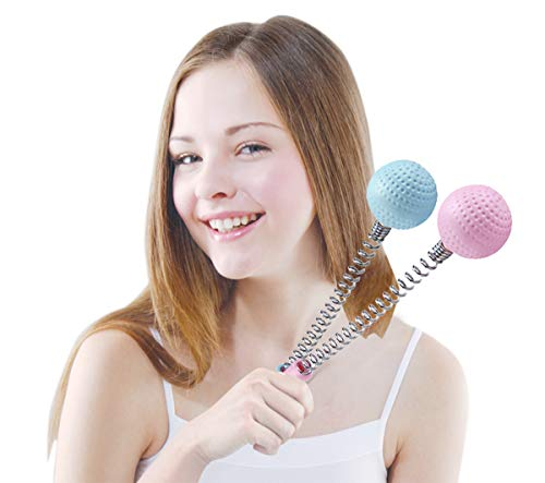 Body Back self Massage Tool Hammer Rod - Shoulder Massage Full Body to Alleviate Fatigue Pain (Pink)