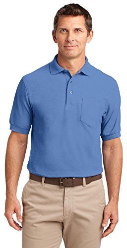 Port Authority Tall Silk Touch Polo With Pocket   Ultramarine Blue Tlk500p 2Xlt