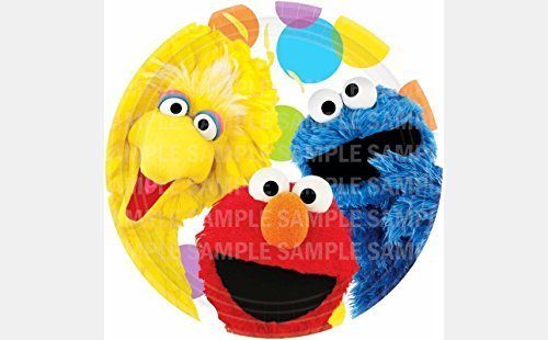 Sesame Street Elmo Big Bird Cookie Monster Birthday Edible Image Photo 8