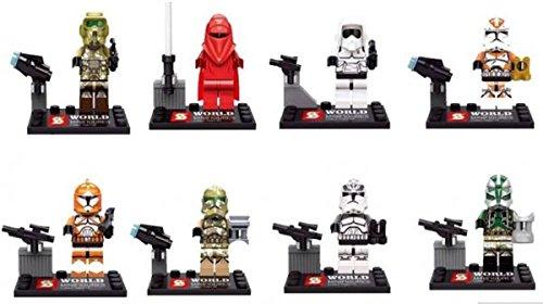 Star Wars Minifigures The Force Awakens Emperor's Royal Guard Building Blocks Sets Bricks Toys 8 pcs. /lot