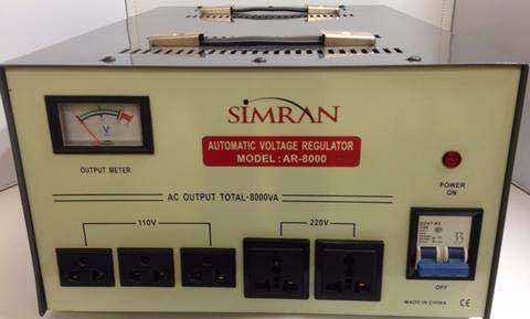Simran AR-3000 Power Converter Regulator Stabilizer Voltage Transformer Ivory//Gray 3000 WATT