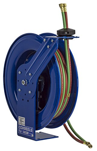Series Welding Hose Reel (Coxreels Super Hub Twin Line Spring-Driven Welding Hose Reel, Model# SHWT-N-150, 1/4