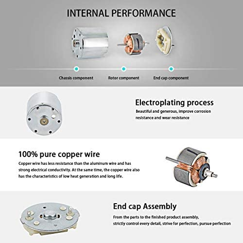 SSY-YU エキセントリックの出力軸ギアボックス(24V / 40RPM)と - DCギアモーター、高トルクリバーシブル電気ギヤードモータ 電動工具用