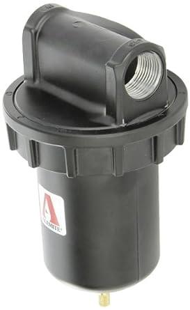 "Alemite 5616-2 Moisture Separator, Moisture Separator, 16 oz Capacity, 265 CFM, Manual Drain, 1"" (NPTF) Inlet, 1"" (NPTF) Outlet, 1"" NPTF"