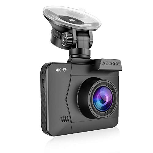 (4K Dash Cam,AZDOME Ultra HD 2160P Dash Camera Built-in GPS and WiFi 170 °Ultra HD Wide Angle,2.4