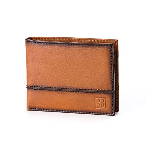 brown with DUDU holder coin ID wallet window 473 card pocket and Havana Wallet credit ~ 594 amp; Leather Light UEf50Pwqq