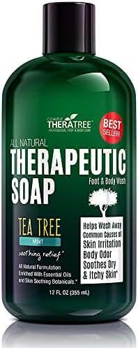 Oleavine Antifungal Soap with Tea Tree and Neem for Body, 12 oz