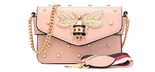 bags Pink Bee OYIGE Shoulder Women's Crossbody Small with amp; square bag Handbags package Pearl nORZx0fO
