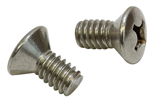 1/4''-20 X 5/8'' Stainless Phillips Oval Head Machine Screw, (25 pc), 18-8 (304) Stainless Steel, by Bolt Dropper
