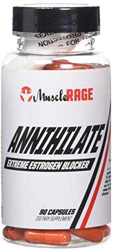Muscle Rage Annihilate Anti-Estrogen Supplement Capsules, 90-Count