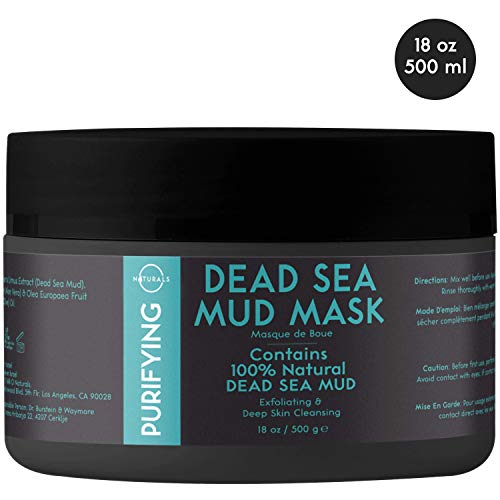 O Naturals Purifying Dead Sea Mud Mask – Natural, Vegan Face & Body Mask to Help Treat Acne, Exfoliating, Deep Skin Cleansing, Hydrating, Healing & Reducing Wrinkles. Enriched with Aloe Vera. 18 Oz.