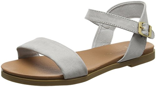 Grey New Mid Women's Wide Foot Sandals Gday Look Grey Open Toe q4fFqw
