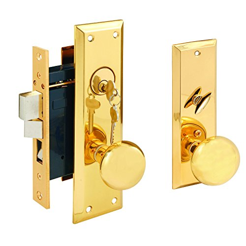 (Segal SE 26010 Entrance Mortise Lockset, 2-1/2 in. Backset, Wrought Solid Brass, Polished Finish)
